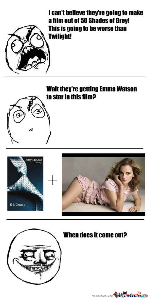 Emma Watson + 50 Shades Of Grey?