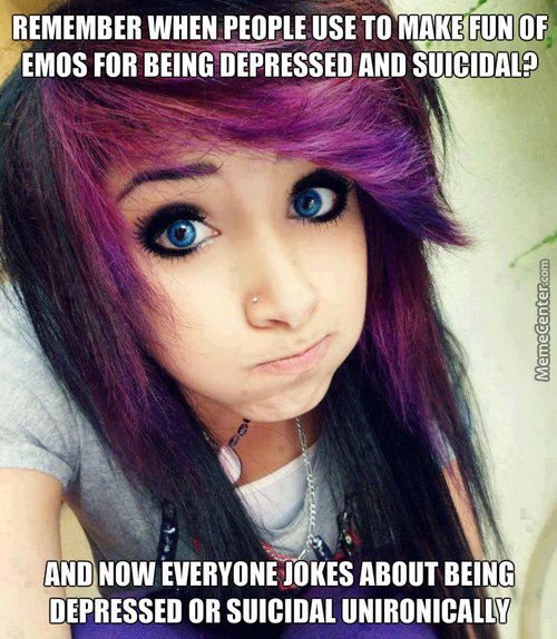 Emos Didn't Disappear, They Just Integrated Their Genes With Society, Just Like The Neanderthal Did With Homos