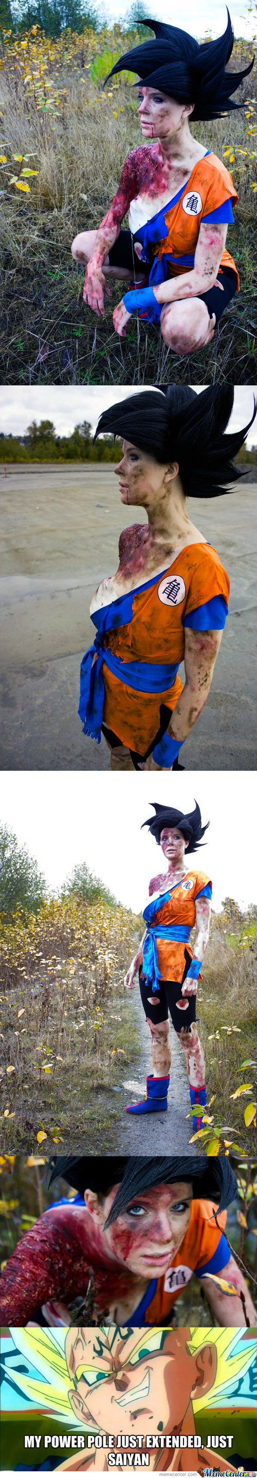 Epic Battle Bruised Goku Cosplay