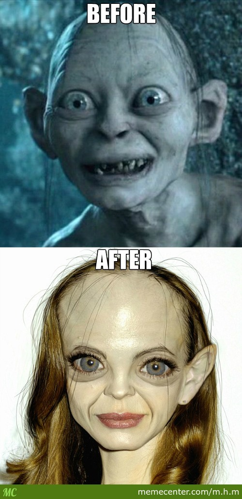 Even Gollum Looks Better With Makeup