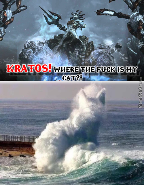 Even In The Ocean Cats Don't Give A Shit