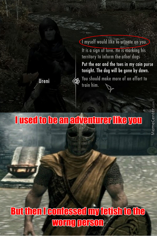Even Skyrim Has Fetishes.