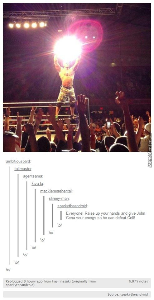 Everyone In Mc Help John Cena \o/