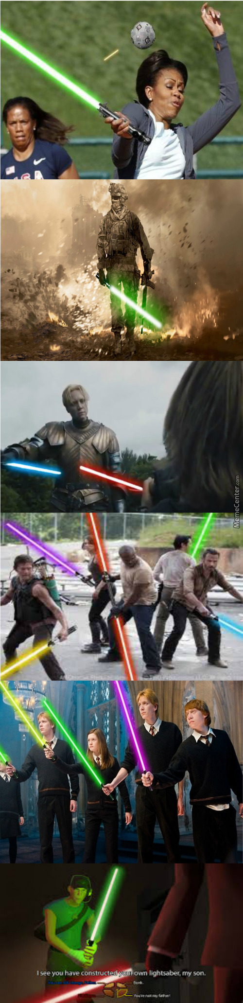 Everything Is Cooler With Lightsabers
