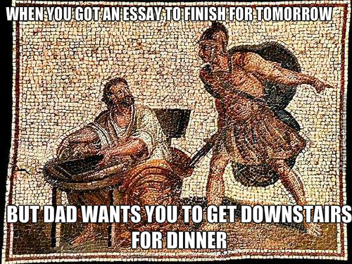 How would you write an essay on dinner?