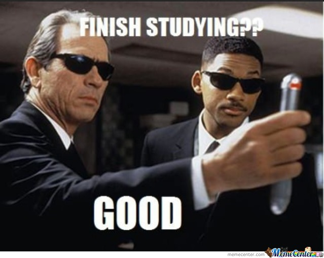 Everytime I Try To Study Hard...