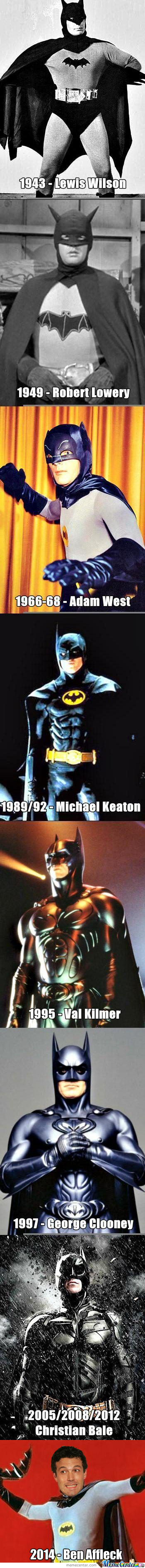 Evolution Of The Dark Knight