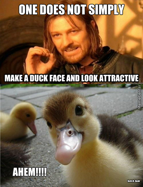 Except When You Are Little And Fuzzy And A Duck