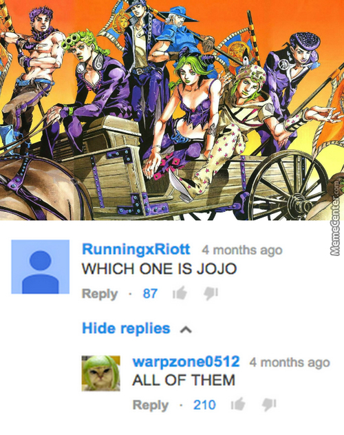 Explaining Jojo To People Be Like