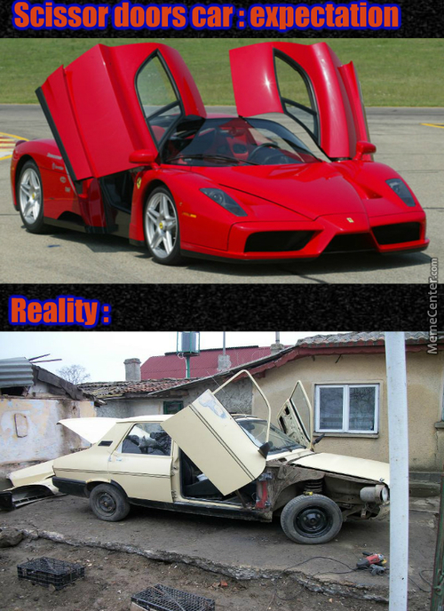 F*ck You, Ferrari ! Dacia Can Into Scissor Doors Too !