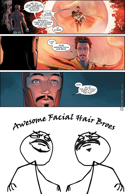 Facial Hair Super Hero Is Best Super Hero