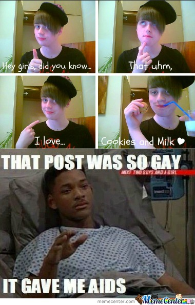 That post was so gay..