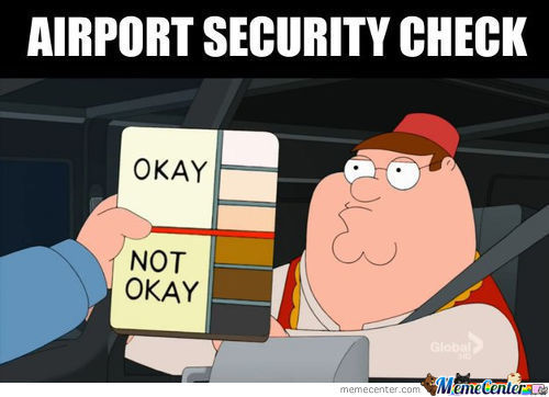 Family Guy Airpot Security Check