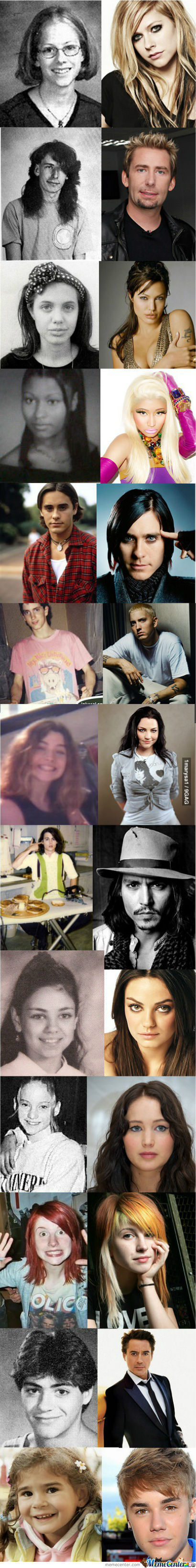 Famous People When They Were Young.