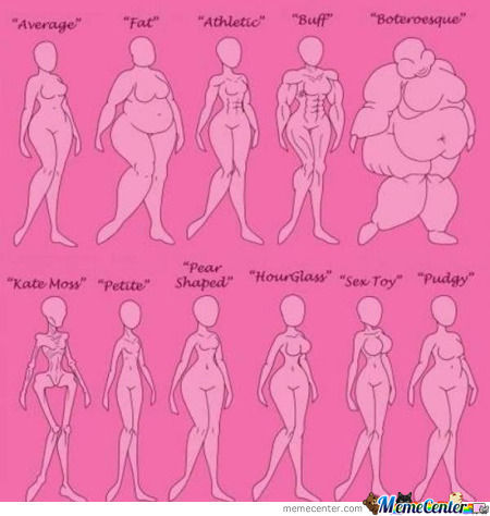 Female Body Type Chart