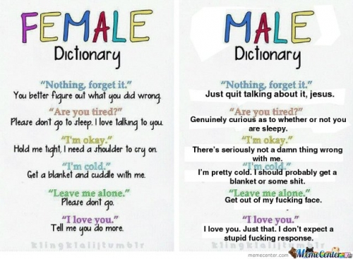 female vs. Male
