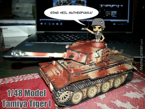 Finished The Tiger Tank I've Been Building For The Past Month