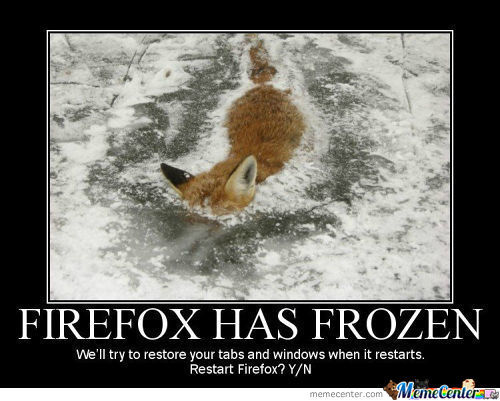 Firefox Has Encountered A Problem