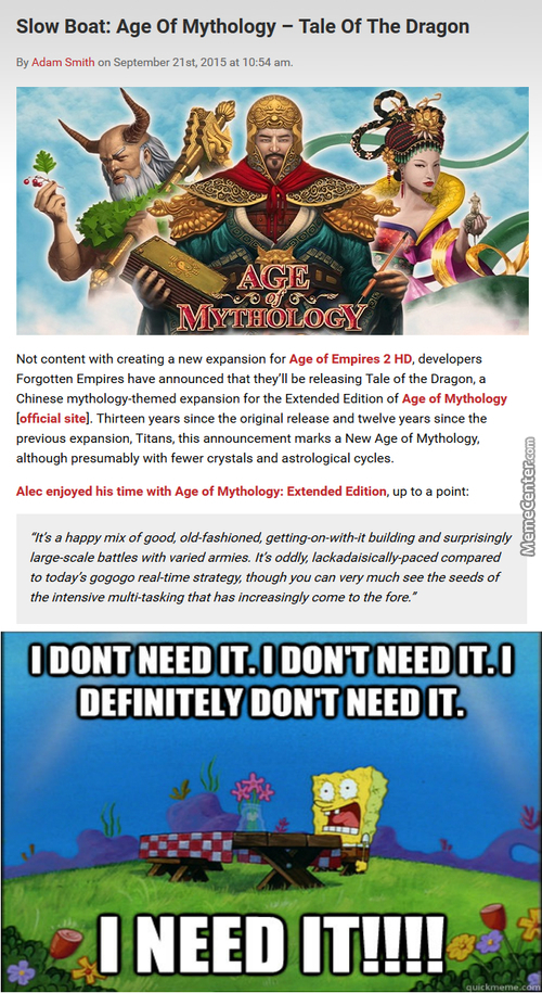First African Kingdoms For Aoe2 And Now China In Aom? Do Want!
