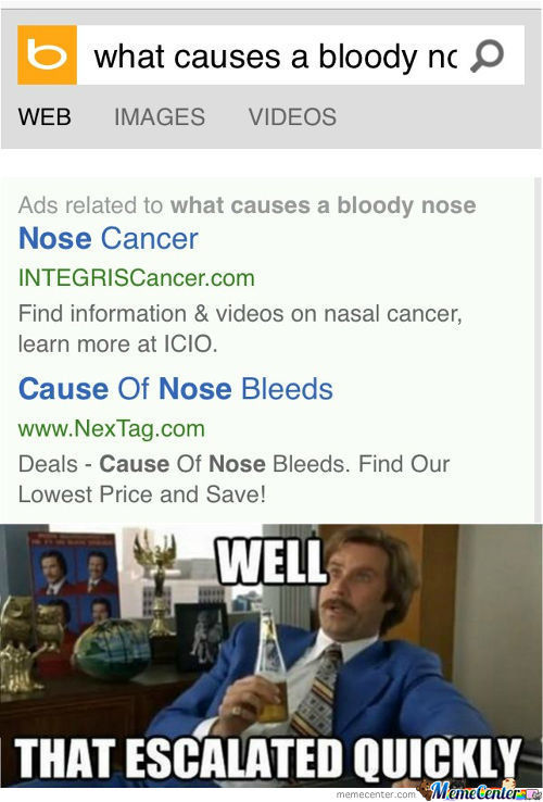 First Bloody Nose...i Guess I Have Cancer