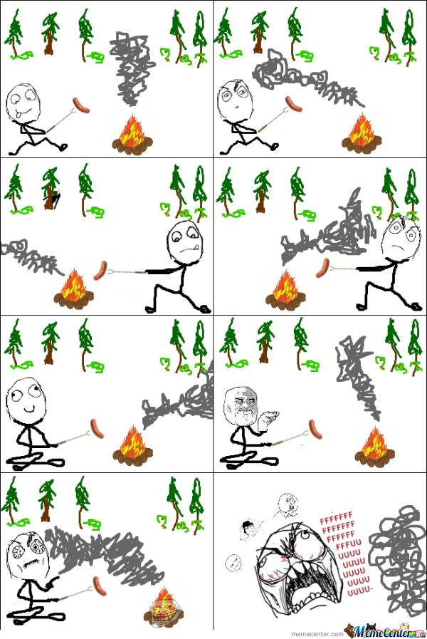 First Ragecomic: Fire Troll