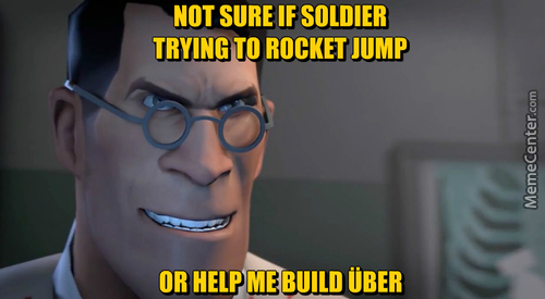 First Übercharged Medic Problems