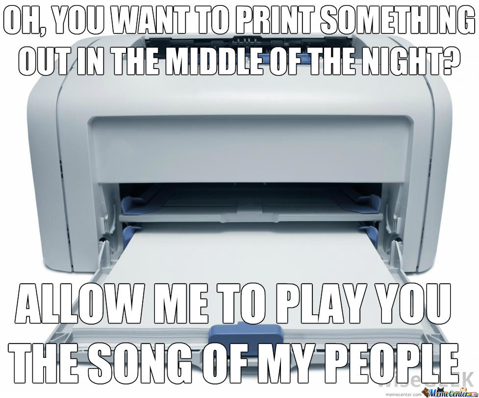 First World Printer Problem