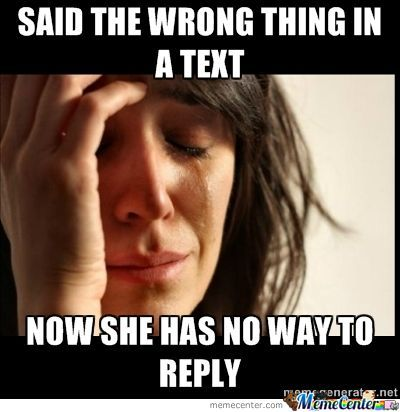 First World Texting Problem
