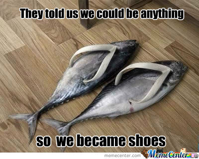 Fish shoes by itzztheapple meme center for Fish nike shoes