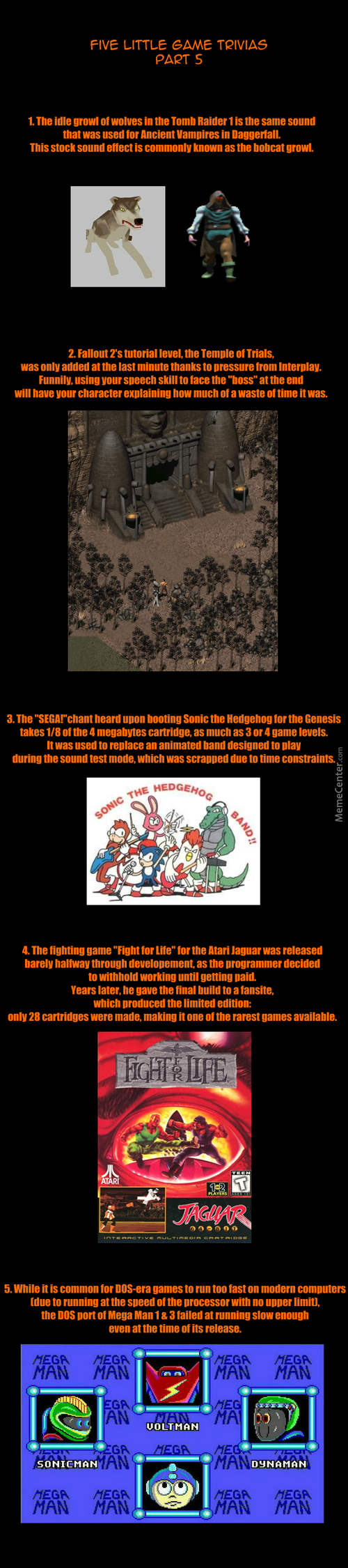 Five Little Game Trivias: Part 5.