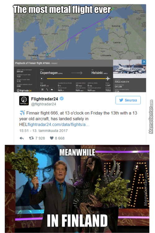 Flight 666 To Hel In Friday The 13Th