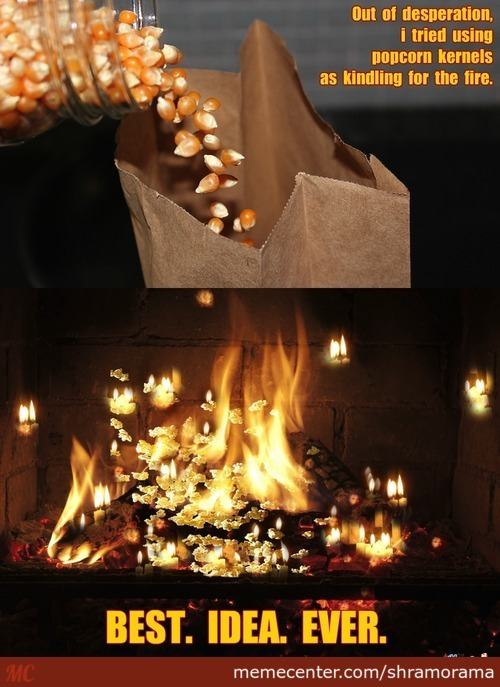 Flying Flaming Popcorn