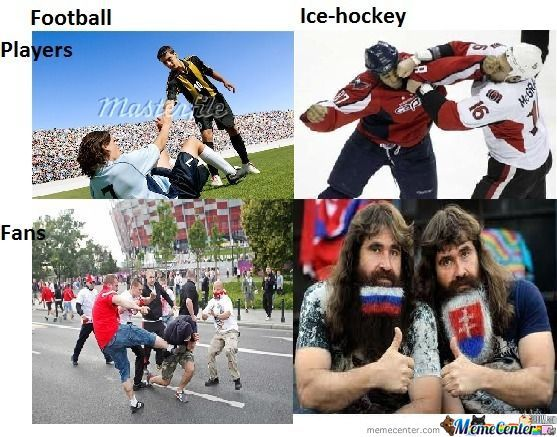 a comparison of football and hockey Comparison between basketball, football, baseball, hockey:) basketball basketball is a sport in which requires 10 people (5 on each team) to dribble the ball down the court and shoot the ball into the hoop.