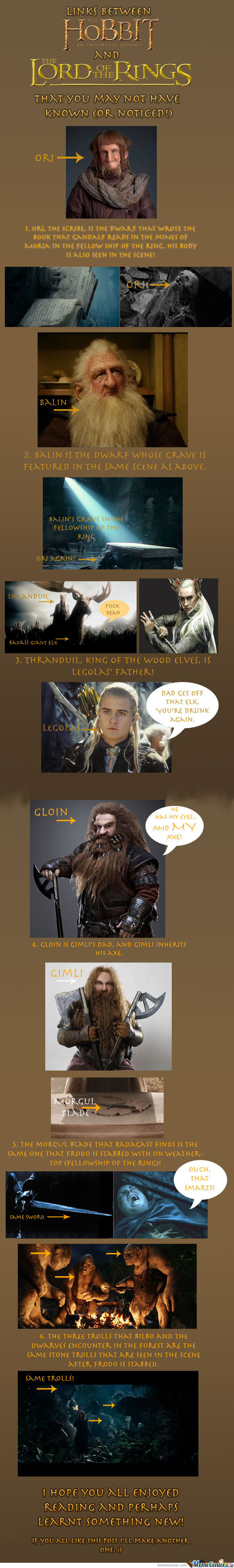 For All You Lotr And Hobbit Fans! Warning: Spoilers