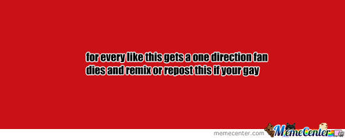 For Each Like This Gets A One Direction Fan Dies