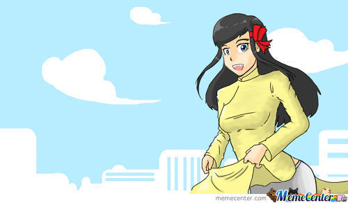 For People Who Love Trista : Trista In Ao Dai (Vietnamese's Traditional Dress)