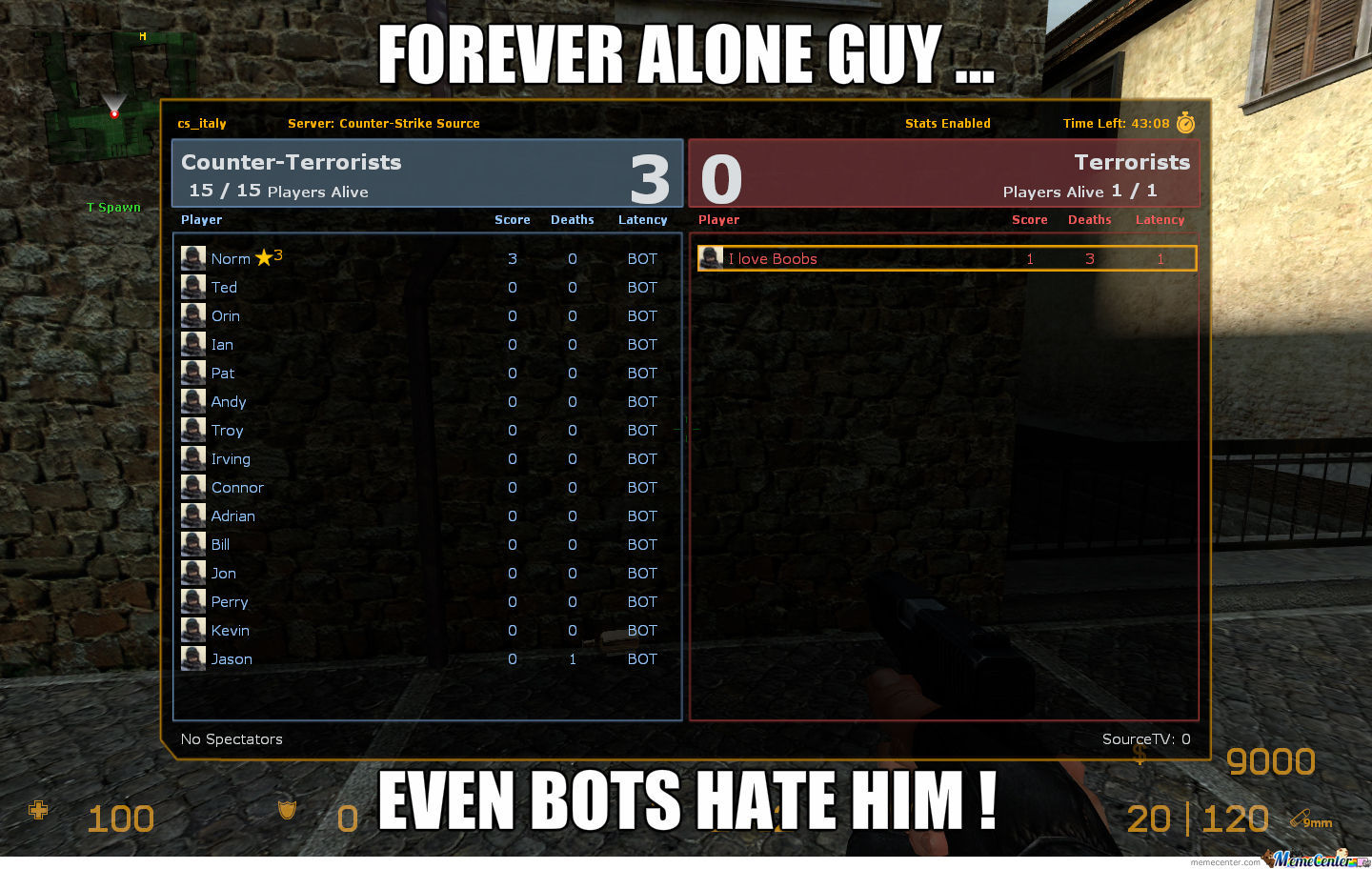 Forever Alone Cs Style !