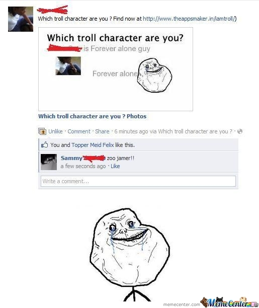 Forever Alone Hitz Facebook
