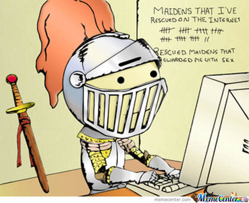 Forever Alone Internet Knight