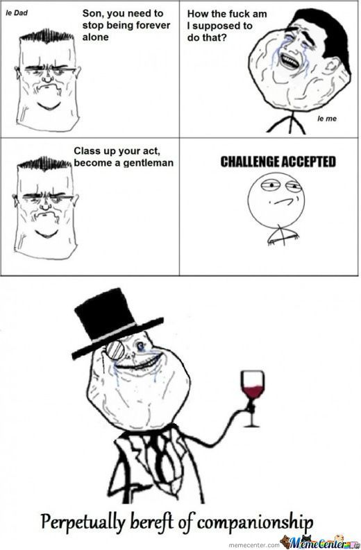 Forever Alone Level Like A Sir