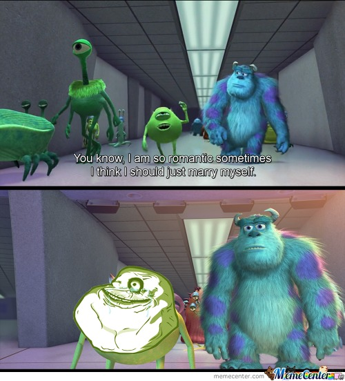Forever Alone Level: Monster Inc