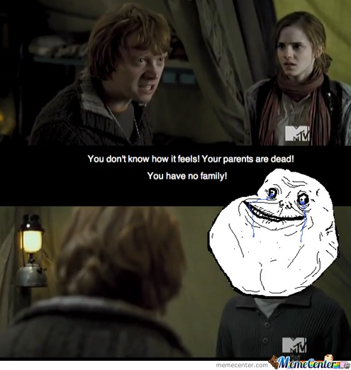 Forever Alone Lvl: Hermione