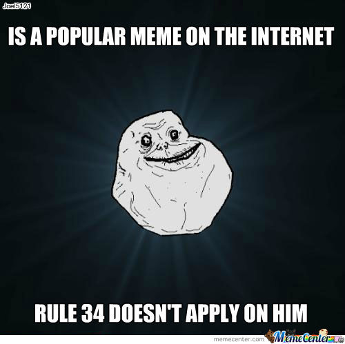 Forever Alone Rule 34