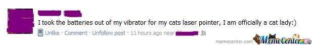 Forever Alone Status: Cat Lady