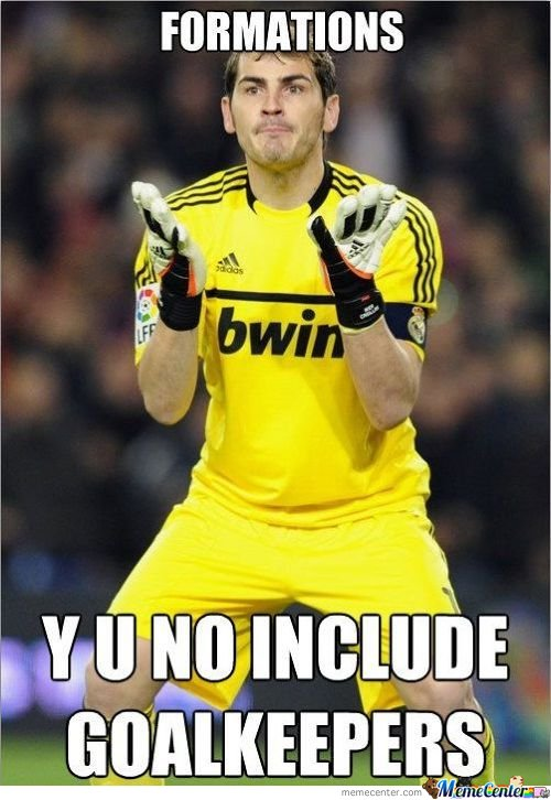 Formations, Y U No Include Goalkeepers