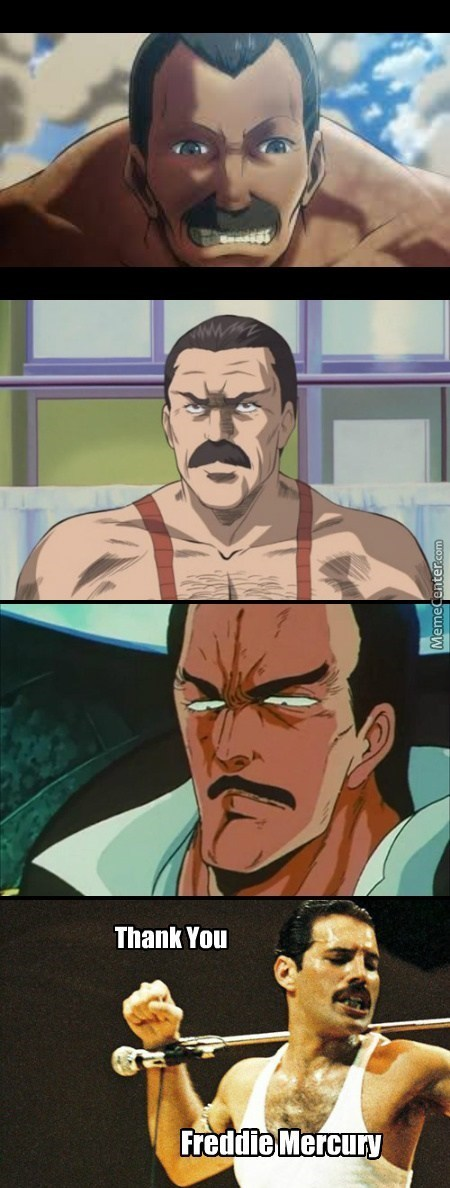 Freddie Mercury Died But Became Immortal As An Anime Character!
