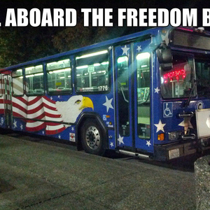 all aboard the freedom train