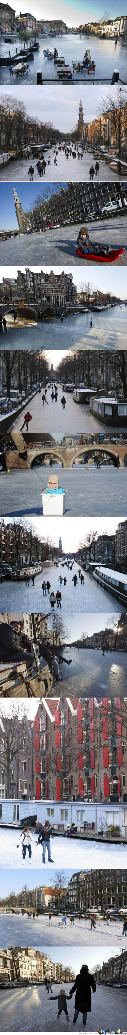Frozen Canals Of Amsterdam Compilation