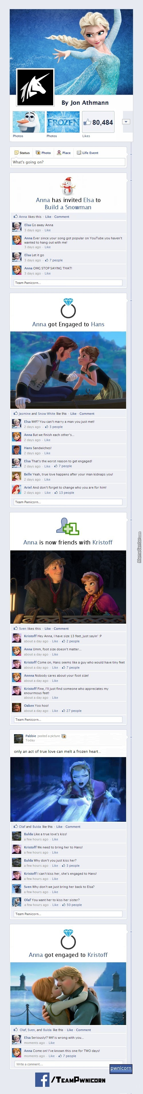 Frozen On Facebook