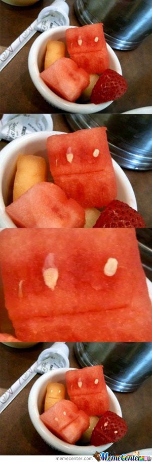 Fruit Photobomb